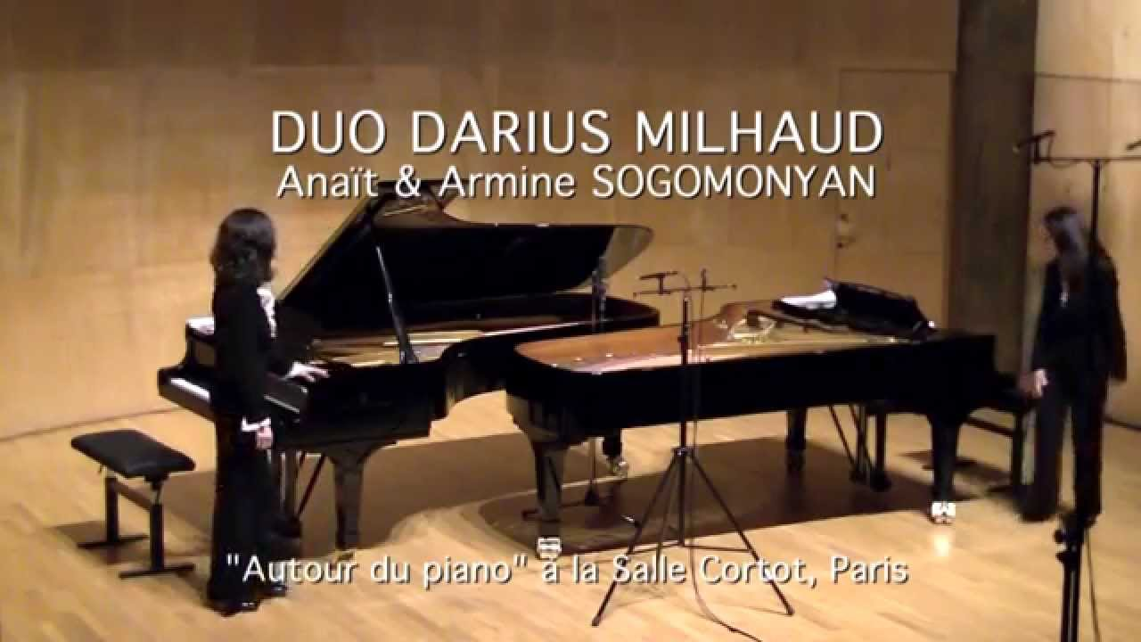 SAMEDI MUSICAL DU 30 SEPTEMBRE 2017 - 17H -  Duo Darius Milhaud